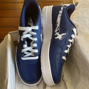 New NIKE Air Force 1 LV8 1 (GS) Navy/White 5.5Y/7